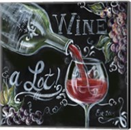 Chalkboard Wine I Fine-Art Print