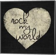 Graffiti Heart Black/Cream I Fine-Art Print