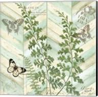 Chevron Botanical I Fine-Art Print