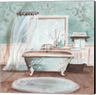 Aqua Blossom Bath II Fine-Art Print