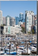 Marina on False Creek, Downtown Vancouver, BC, Canada Fine-Art Print