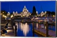 Canada, British Columbia, Victoria, Inner Harbor at Dusk Fine-Art Print