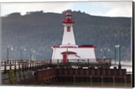 Lighthouse, Port Alberni, Harbor Quay Marina, Vancouver Island, British Columbia, Canada Fine-Art Print