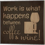Wine and Coffee Sayings I Fine-Art Print