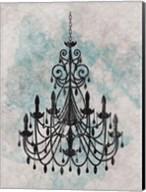 Chandelier  Splash Of Blue 1 Fine-Art Print
