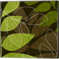 Green Brown Leaves Fine-Art Print