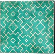 Tan on Teal Pattern Fine-Art Print