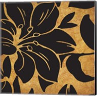 Black and Gold Flora 1 Fine-Art Print