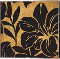 Black and Gold Flora 2 Fine-Art Print