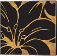 Black and Gold Flora 3 Fine-Art Print
