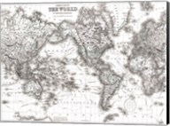 World Map White Fine-Art Print