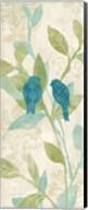 Love Bird Patterns Turquoise Panel II Fine-Art Print
