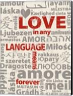 Love Lanquages 3 Fine-Art Print