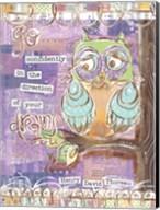 Pastel Owl Family 4 Go Confidently Fine-Art Print