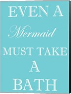 Mermaid Must Bathe Fine-Art Print