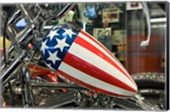 Patriotic Motorcycle with Stars and Stripes Fine-Art Print