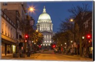 Looking down State Street in downtown Madison, Wisconsin Fine-Art Print