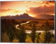 Teton Range at Sunset, Grand Teton National Park, Wyoming Fine-Art Print