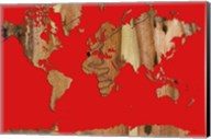 Wood Bark World Map 1 Fine-Art Print