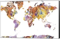 World Map Rock 1 Fine-Art Print