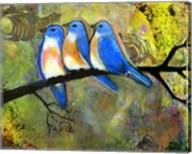 Three Little Bluebirds Fine-Art Print