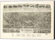 Rutherford, NJ Vintage Map, 1904 Fine-Art Print