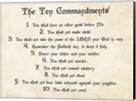 The Ten Commandments Fine-Art Print