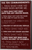Ten Commandments - Red Grunge Fine-Art Print