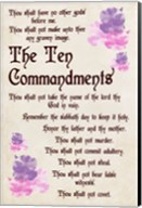The Ten Commandments - Floral Fine-Art Print