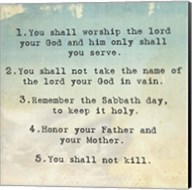 Ten Commandments 1-5 Fine-Art Print
