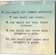 Ten Commandments 6-10 Fine-Art Print