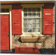 Red Door, Red Shutters Fine-Art Print