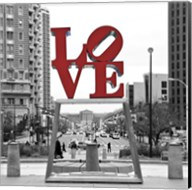 LOVE (Black, White, Red) Fine-Art Print
