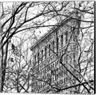 Veiled Flatiron Building (b/w) (detail) Fine-Art Print