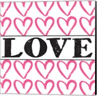 Love - Pink Sharpie Fine-Art Print