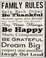Family Rules 3 Fine-Art Print
