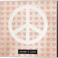 Peace - Pink Hearts Fine-Art Print
