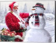 Santa And Snowman 3 Fine-Art Print