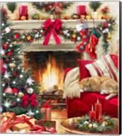 Christmas Fireplace Fine-Art Print