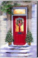 Xmas Red Door 2 Fine-Art Print