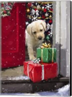Puppy With Presents Fine-Art Print