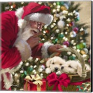 Santa And Puppies Fine-Art Print
