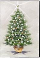 Silver Gold Xmas Tree Fine-Art Print
