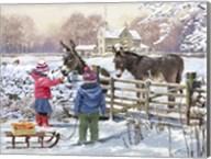 Kids And Donkey Fine-Art Print