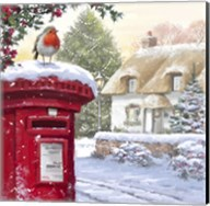Robin On Post Box 2 Fine-Art Print