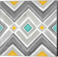 Chevron Tile Black/White I Fine-Art Print