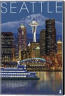 Seattle At Night Fine-Art Print