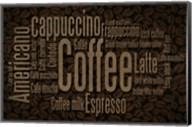 Coffee Beans Text Fine-Art Print