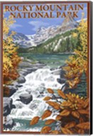 Rocky Mountain Park Waterfall Ad Fine-Art Print