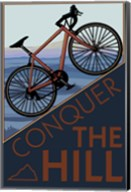 Conquer The Hill Bicycle Ad Fine-Art Print